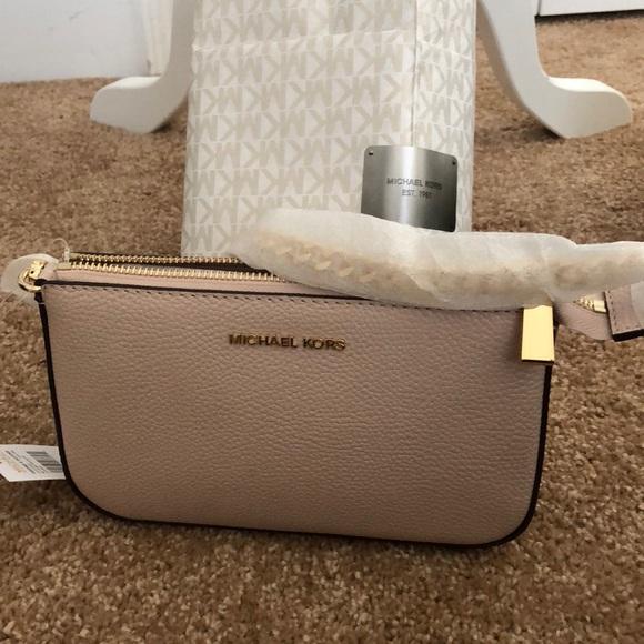 08c839c9d9b4 Michael Kors Bags | Mk Soft Pink Medium Chain Pouchette Nwt | Poshmark